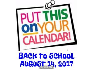 Back To School, August 14th.
