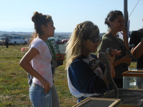 Volunteers learn about the wildlife at the refuge.